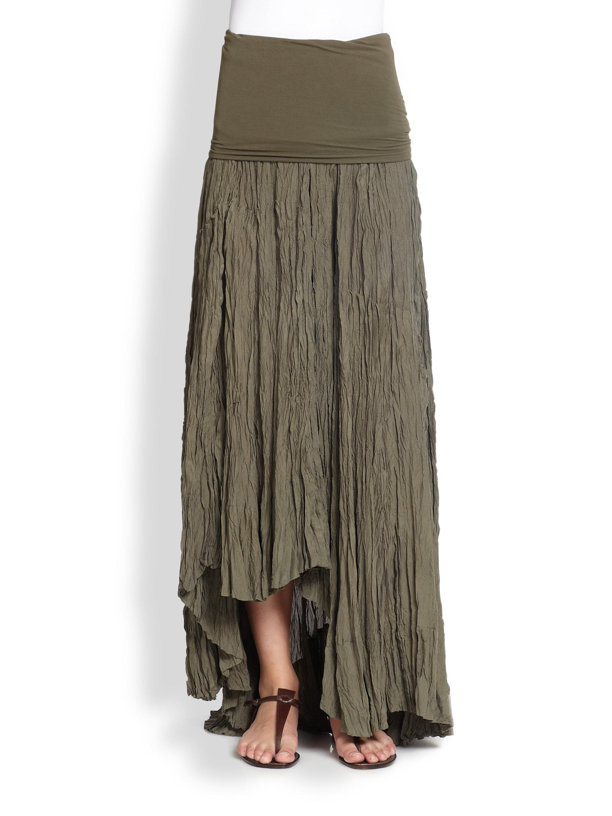 Silk Broomstick Skirt 113