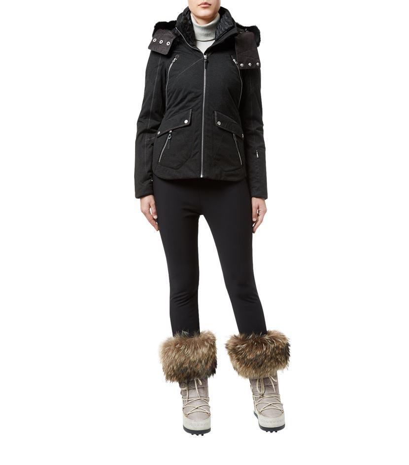 Spyder Amour Ski Jacket in Black - Lyst 2667bfebe7c
