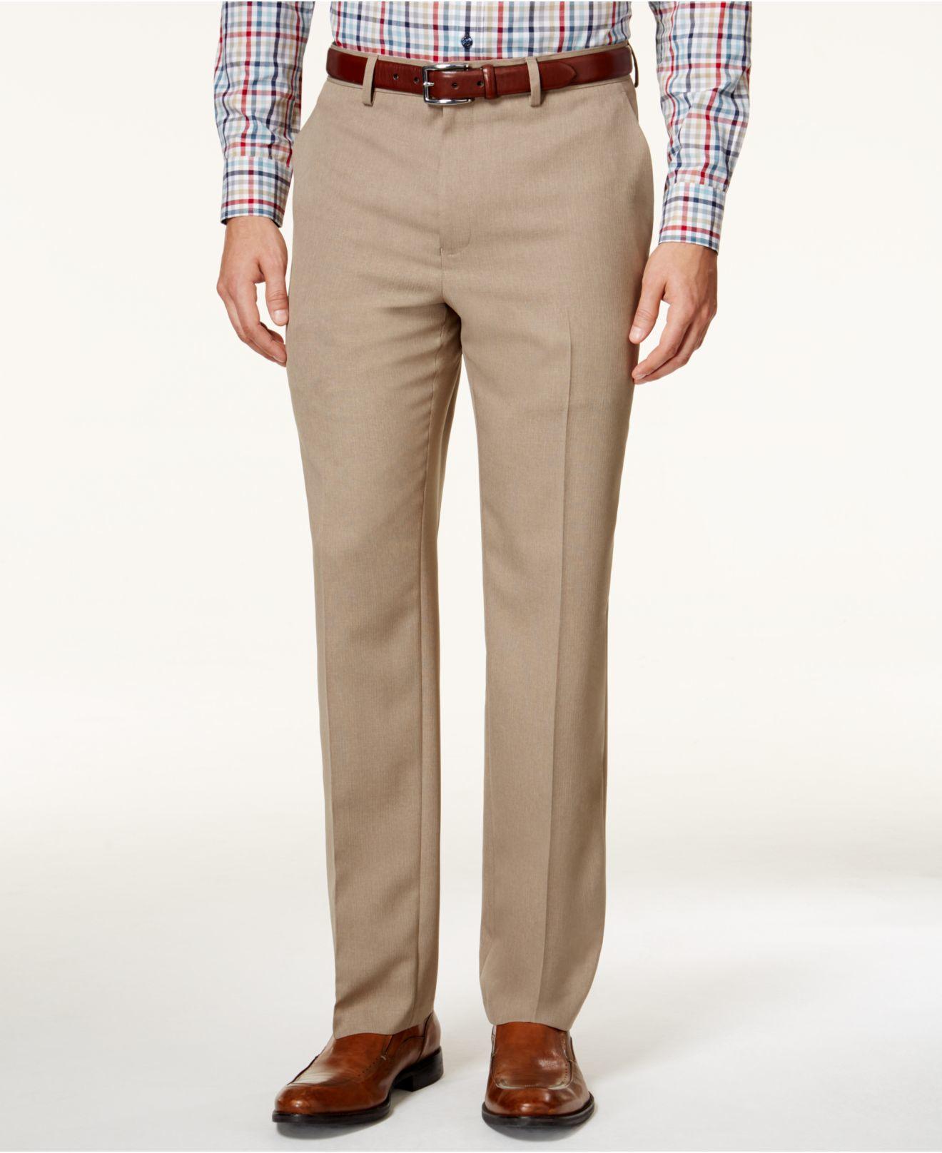 Lyst Alfani Men S Slim Fit Flat Front Pants Only At