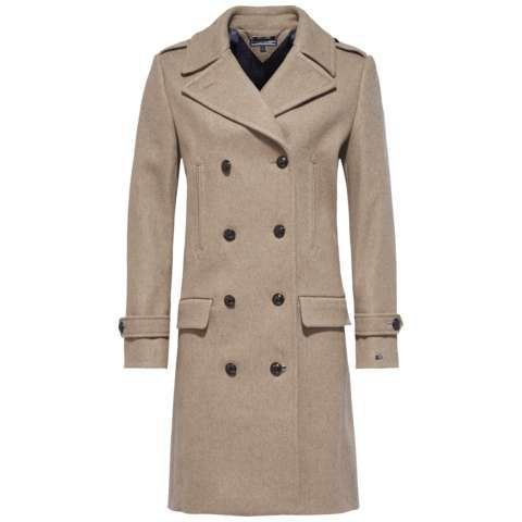 tommy hilfiger tate wool coat in natural lyst. Black Bedroom Furniture Sets. Home Design Ideas