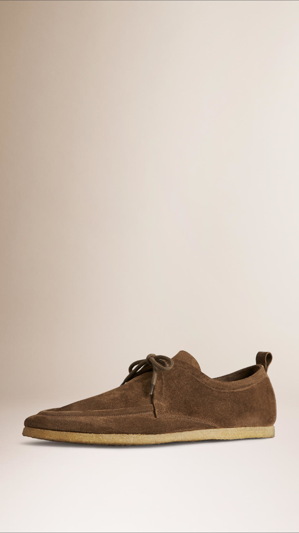 Lyst Burberry Crepe Sole Suede Shoes Brown In Brown For Men