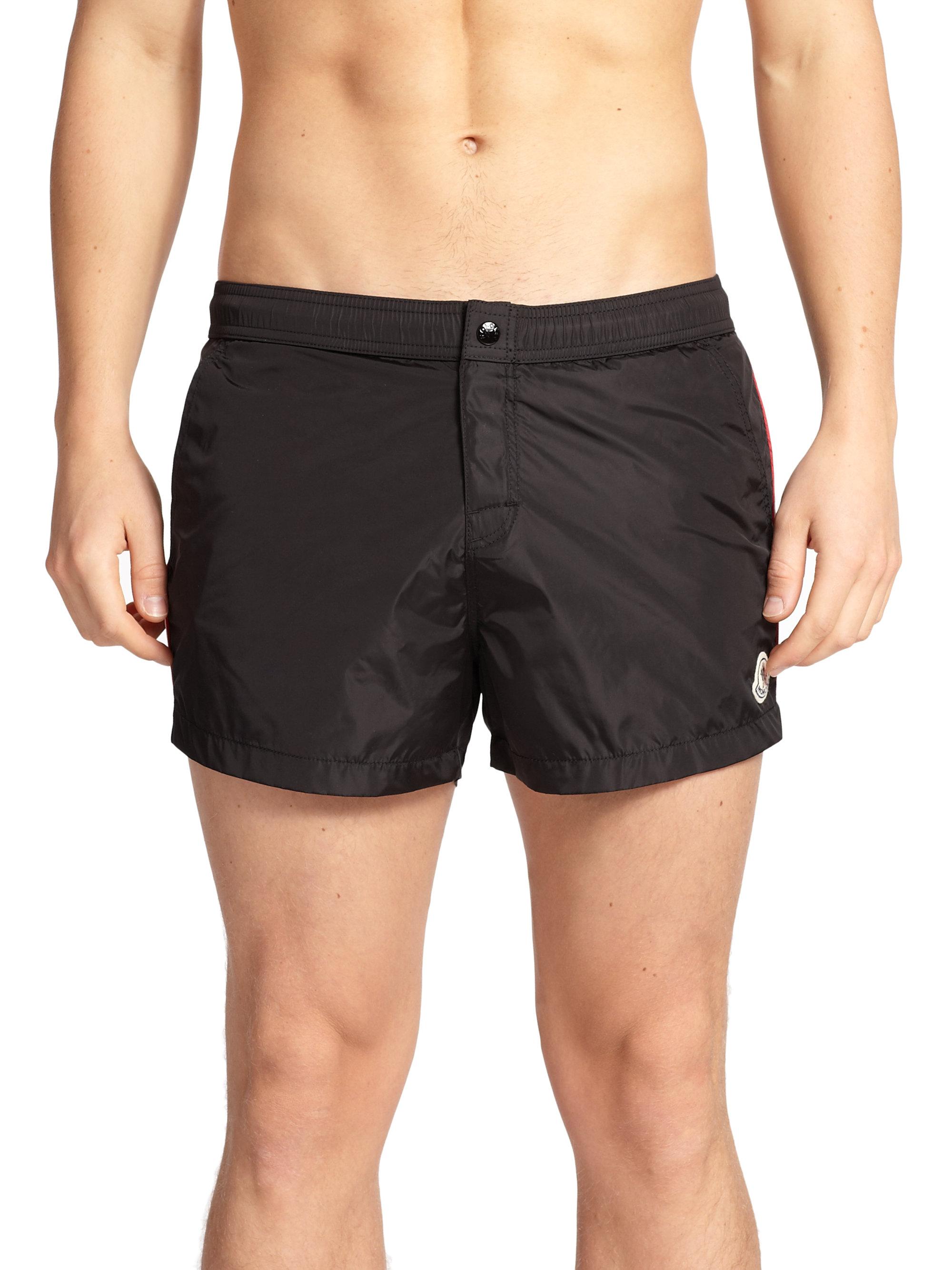 3b0c548a1a Moncler Nylon Swim Shorts in Black for Men - Lyst