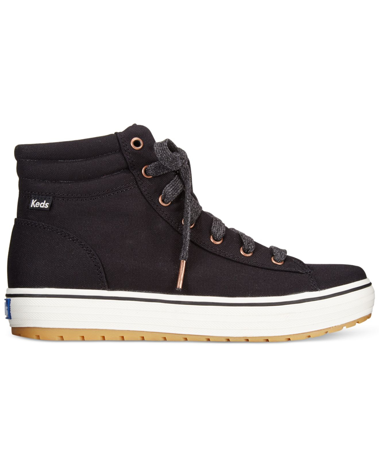 keds s high rise high top sneakers in black lyst