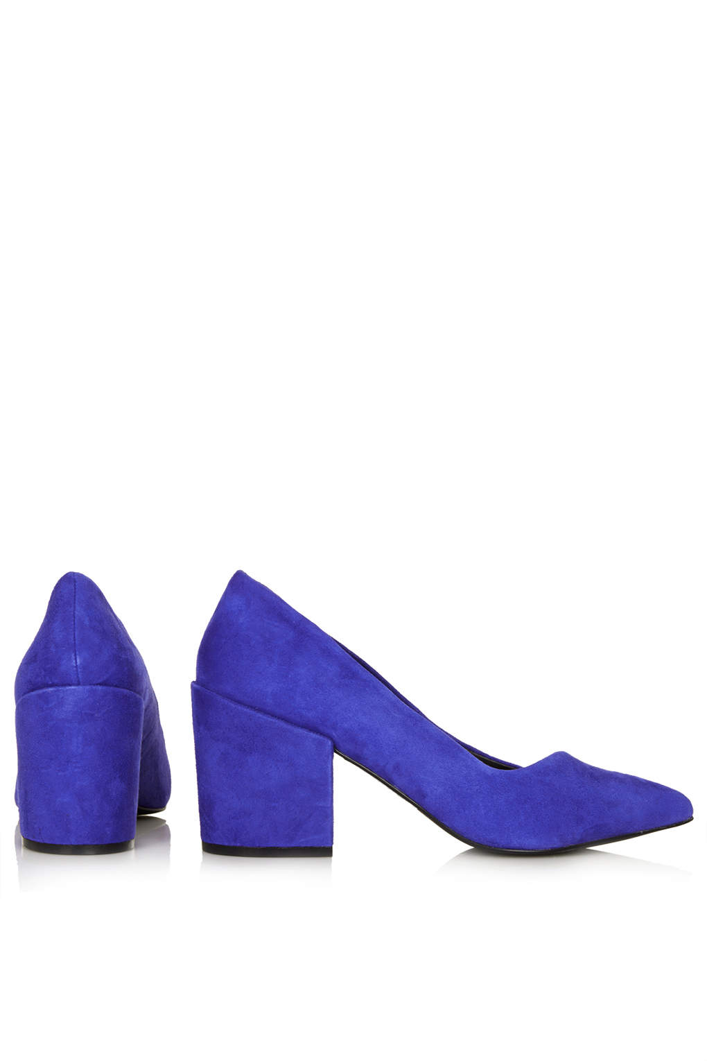 Topshop Joe Block Heel Court Shoes in Blue | Lyst