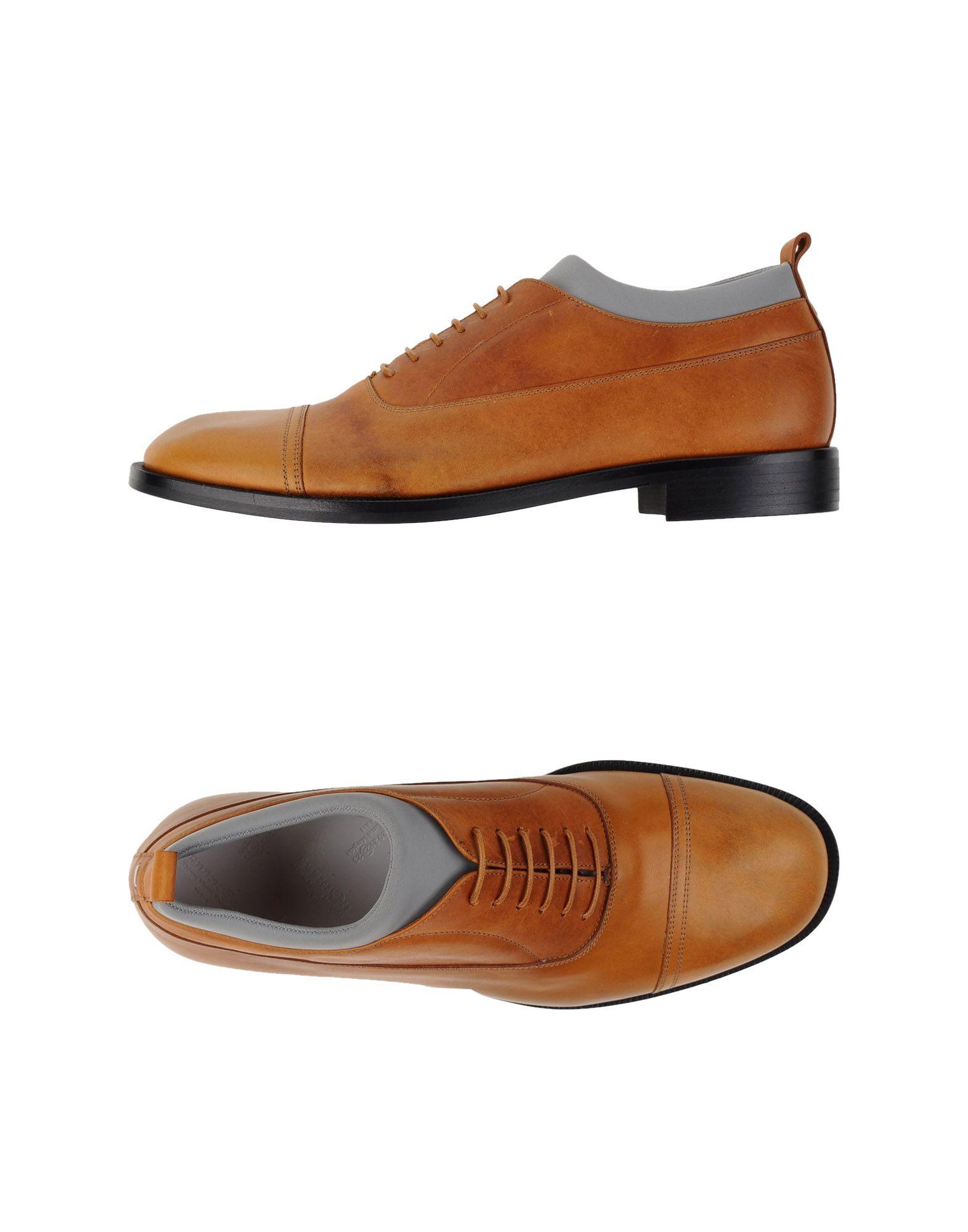 maison margiela lace up shoes in brown lyst. Black Bedroom Furniture Sets. Home Design Ideas