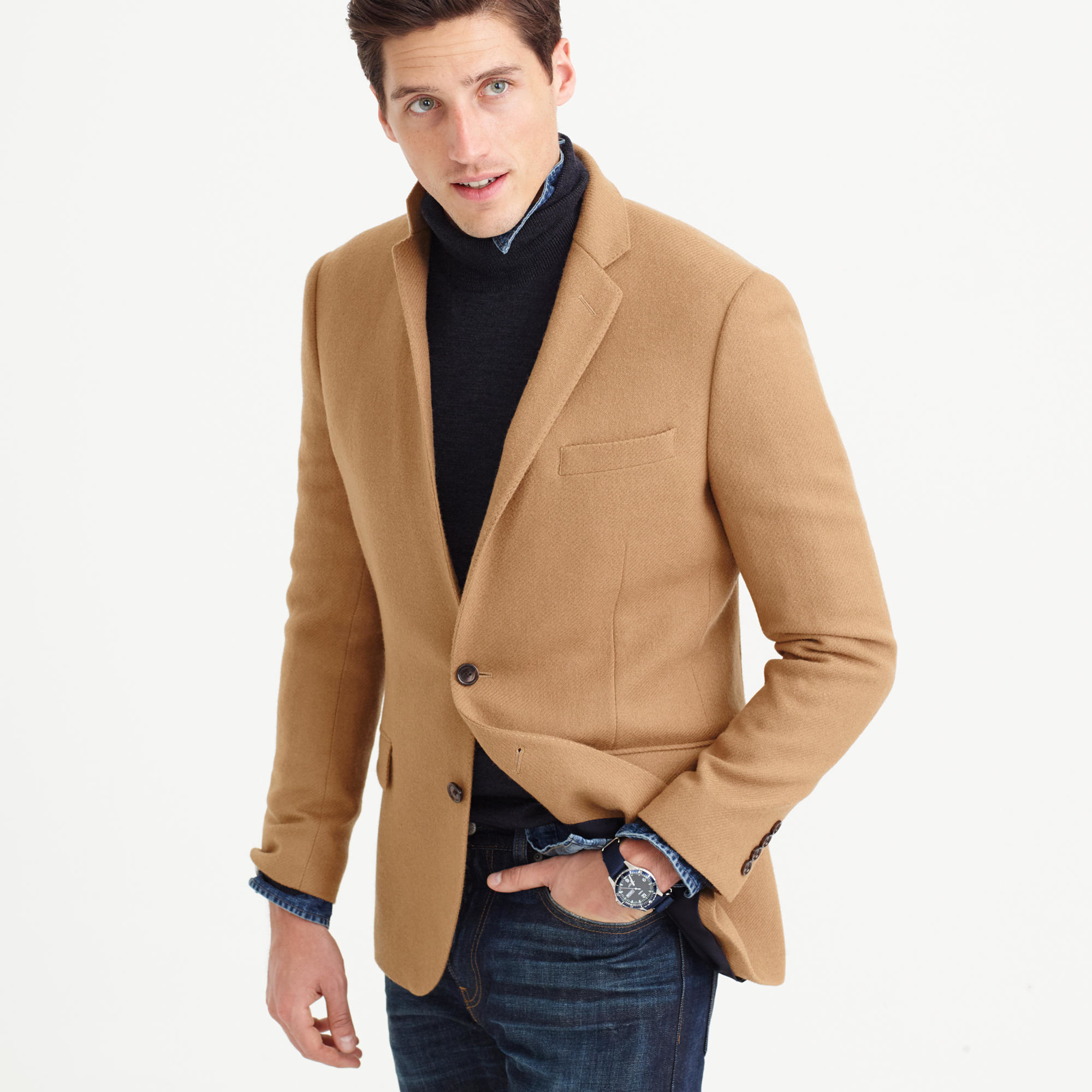 J.crew Ludlow Blazer In English Wool in Brown for Men | Lyst