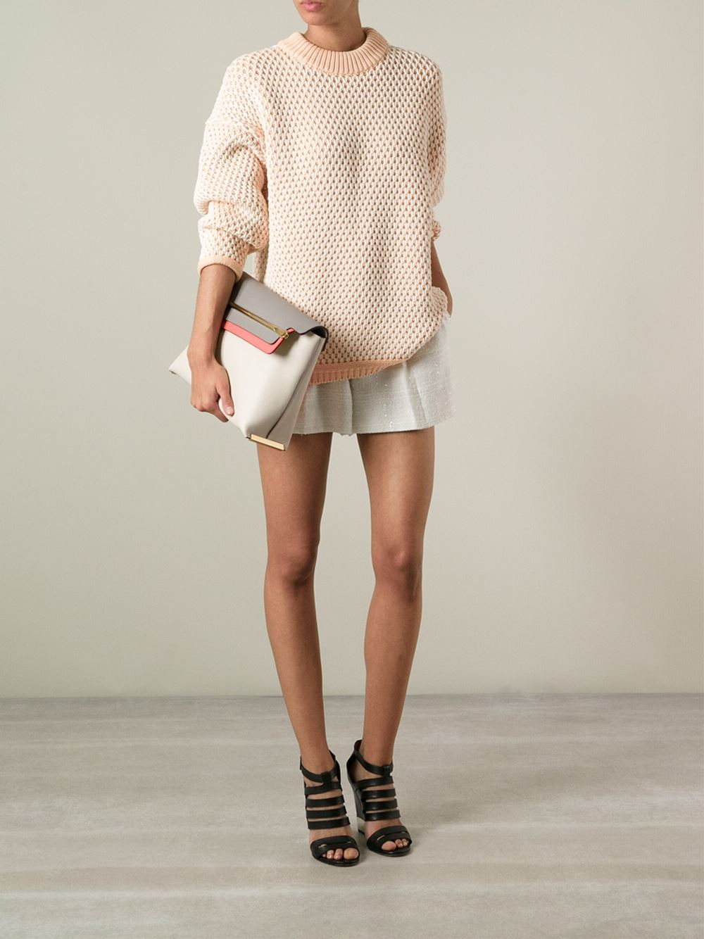 Chlo¨¦ \u0026#39;Clare\u0026#39; Shoulder Bag in Beige (nude \u0026amp; neutrals) | Lyst