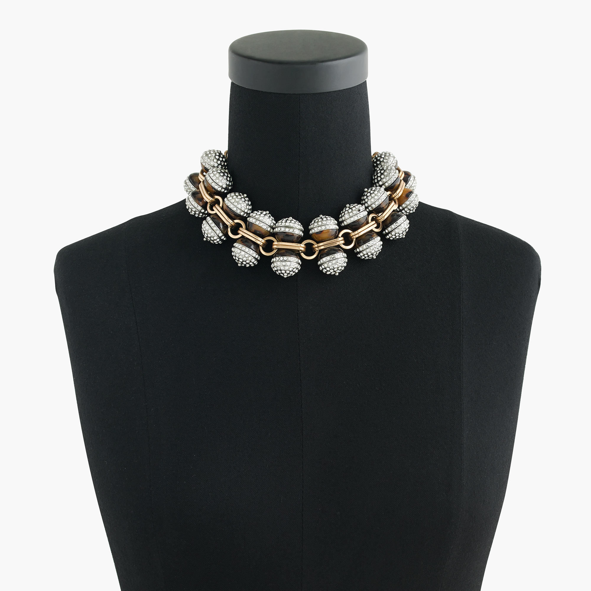 Lyst J Crew Tortoise And Pav 233 Crystal Necklace In Brown