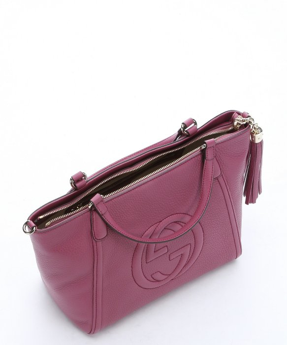 76088d5871ef GUCCI Calfskin Matelasse GG Marmont Belt Bag 95 38 Dusty Pink 302505. Gucci  Dusty Rose Leather 'soho' Convertible Top Handle Bag