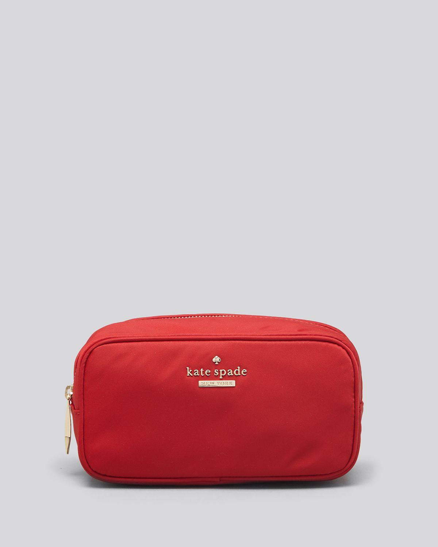 f900814b08bd Lyst - Kate Spade New York Cosmetic Case - Classic Nylon Ezra in Red