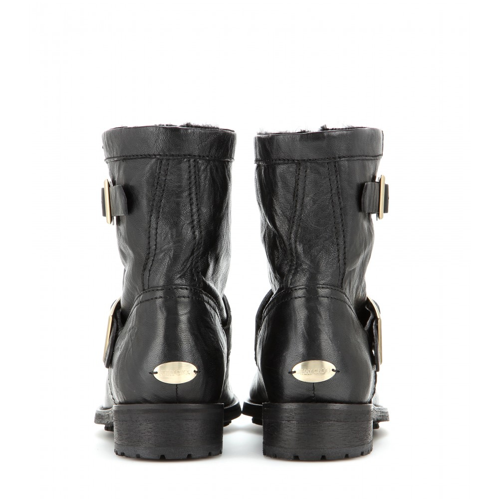 cheap with paypal Jimmy Choo Fur-Lined Moto Boots free shipping cheap visa payment online buy cheap price yDNpZ