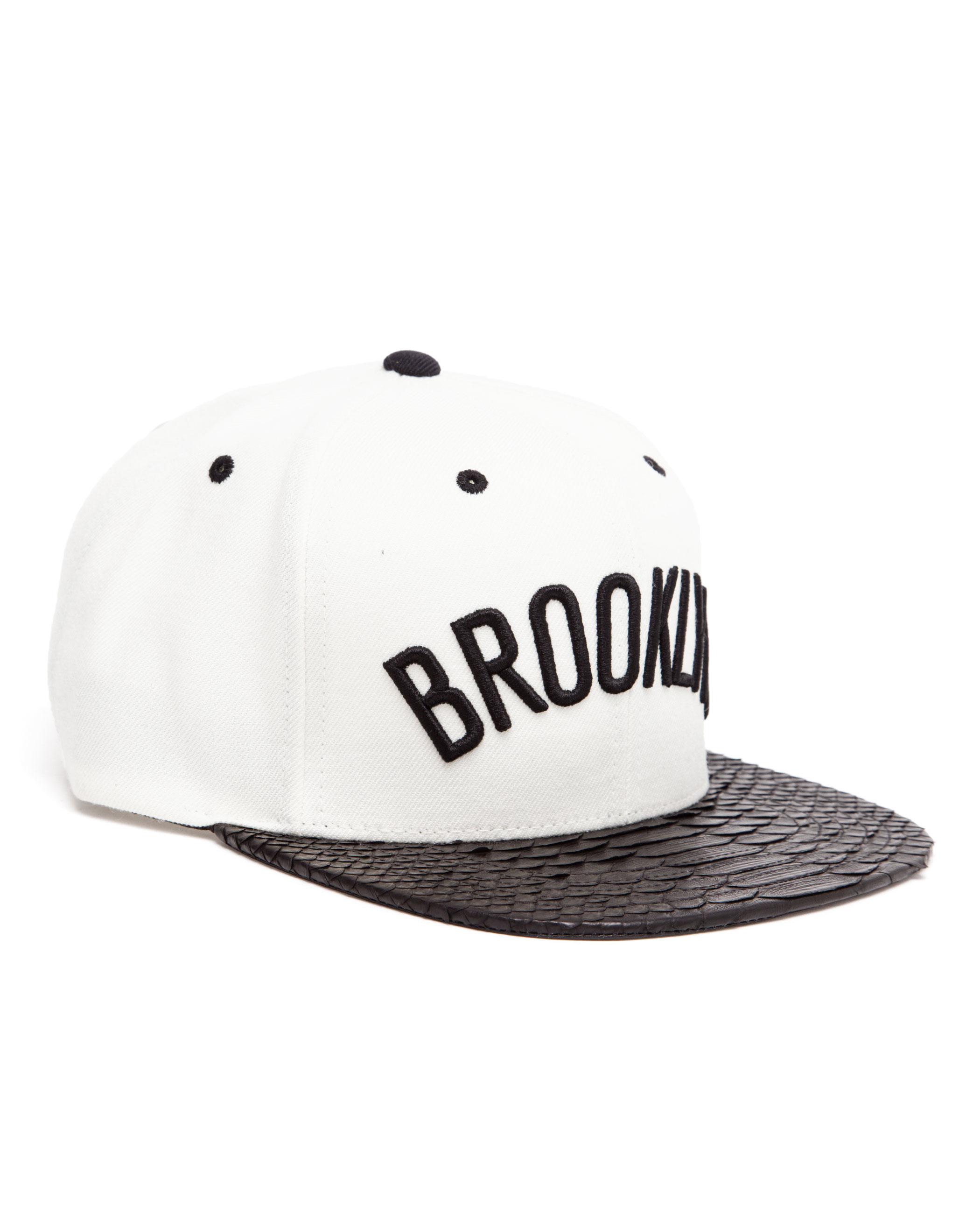 4f05199124e spain mitchell ness x just don brooklyn nets black python snapback cap  freshness mag 0b2b8 1562d  store lyst just don unisex brooklyn baseball cap  in white ...