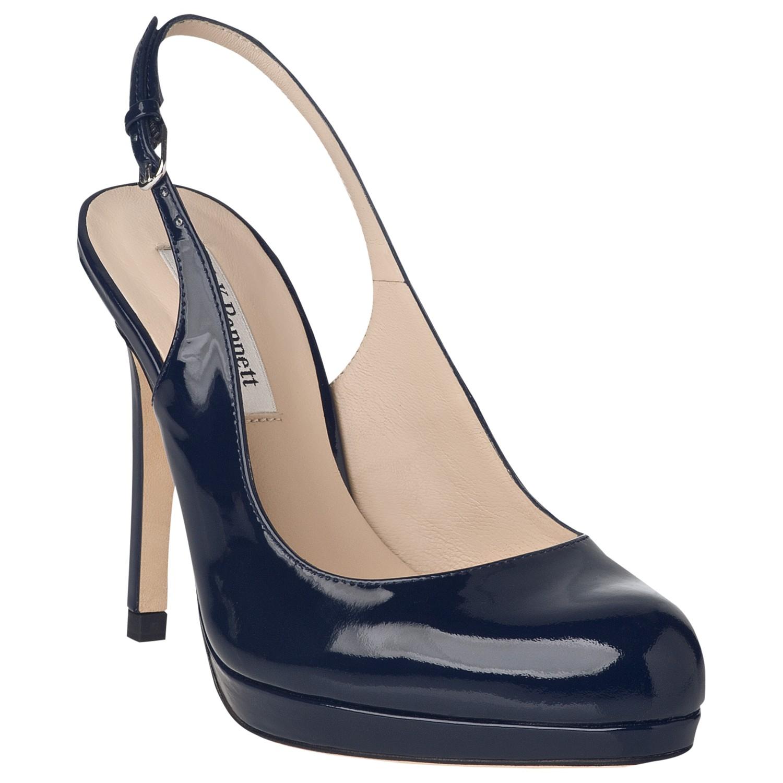 08421cd9bb9 L.K.Bennett Clemmie Slingback Patent Court Shoes in Blue - Lyst