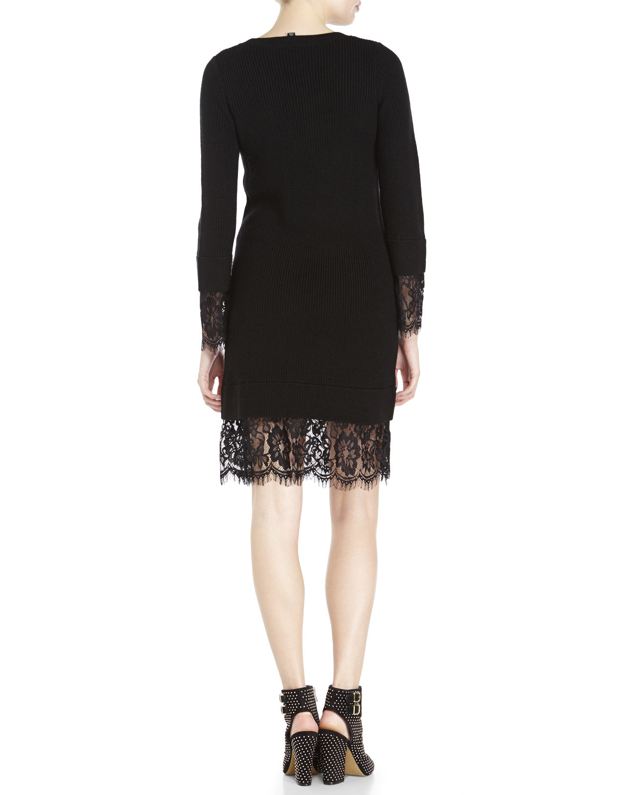 Love Moschino lace trim sweater dress Shop For Sale Online Clearance Authentic From China Outlet 2018 New 6h2I3Kd
