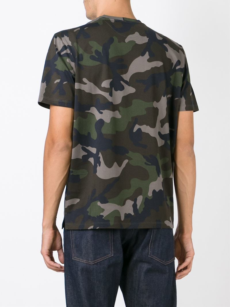 Lyst Valentino Camouflage T Shirt In Green For Men