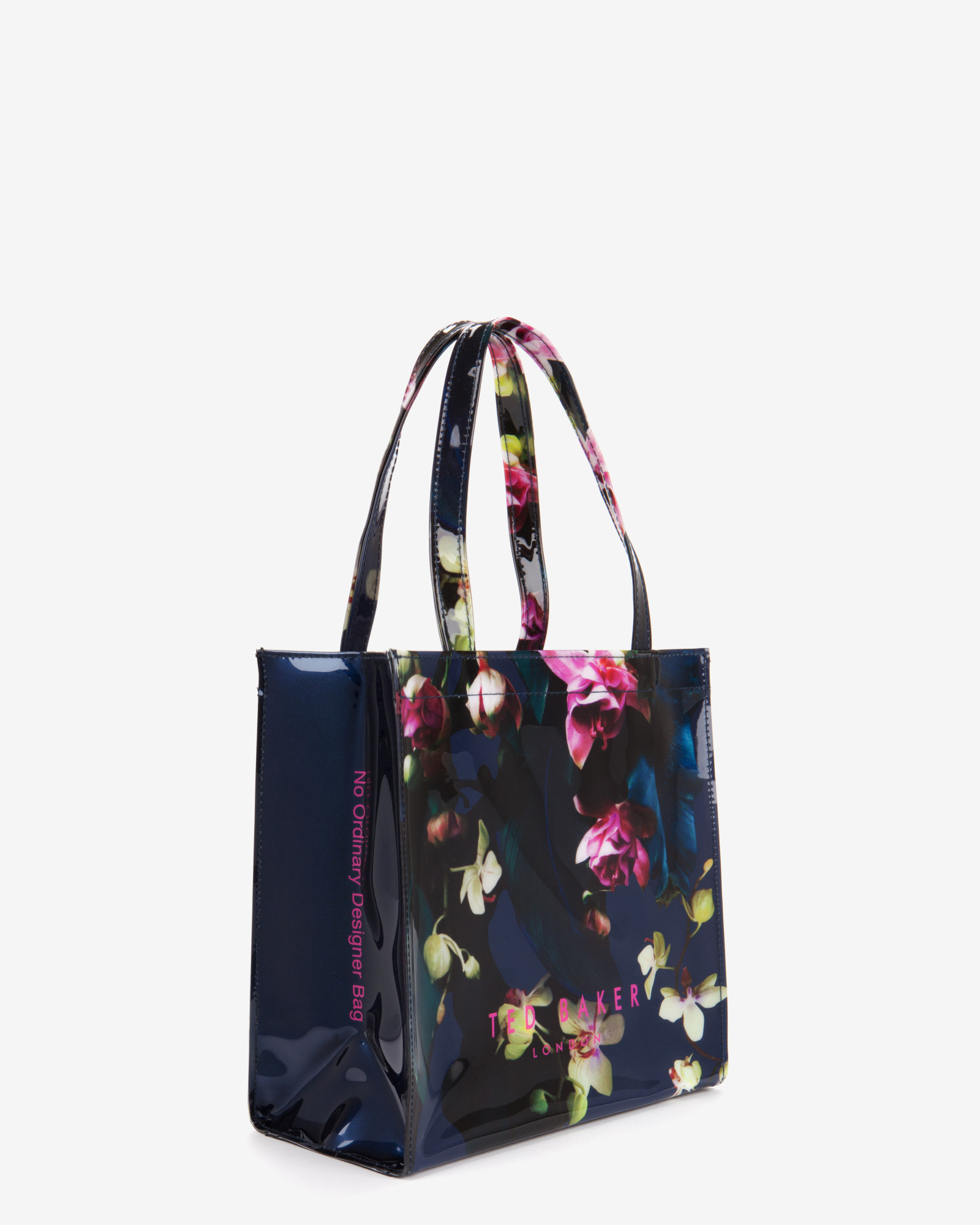 Ted Baker Small Fuchsia Floral Shopper Bag In Blue | Lyst