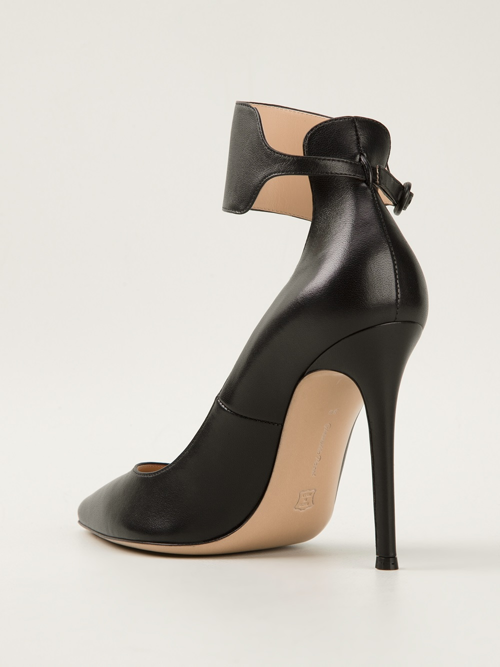 Gianvito Rossi Ankle Strap Pumps In Black Lyst