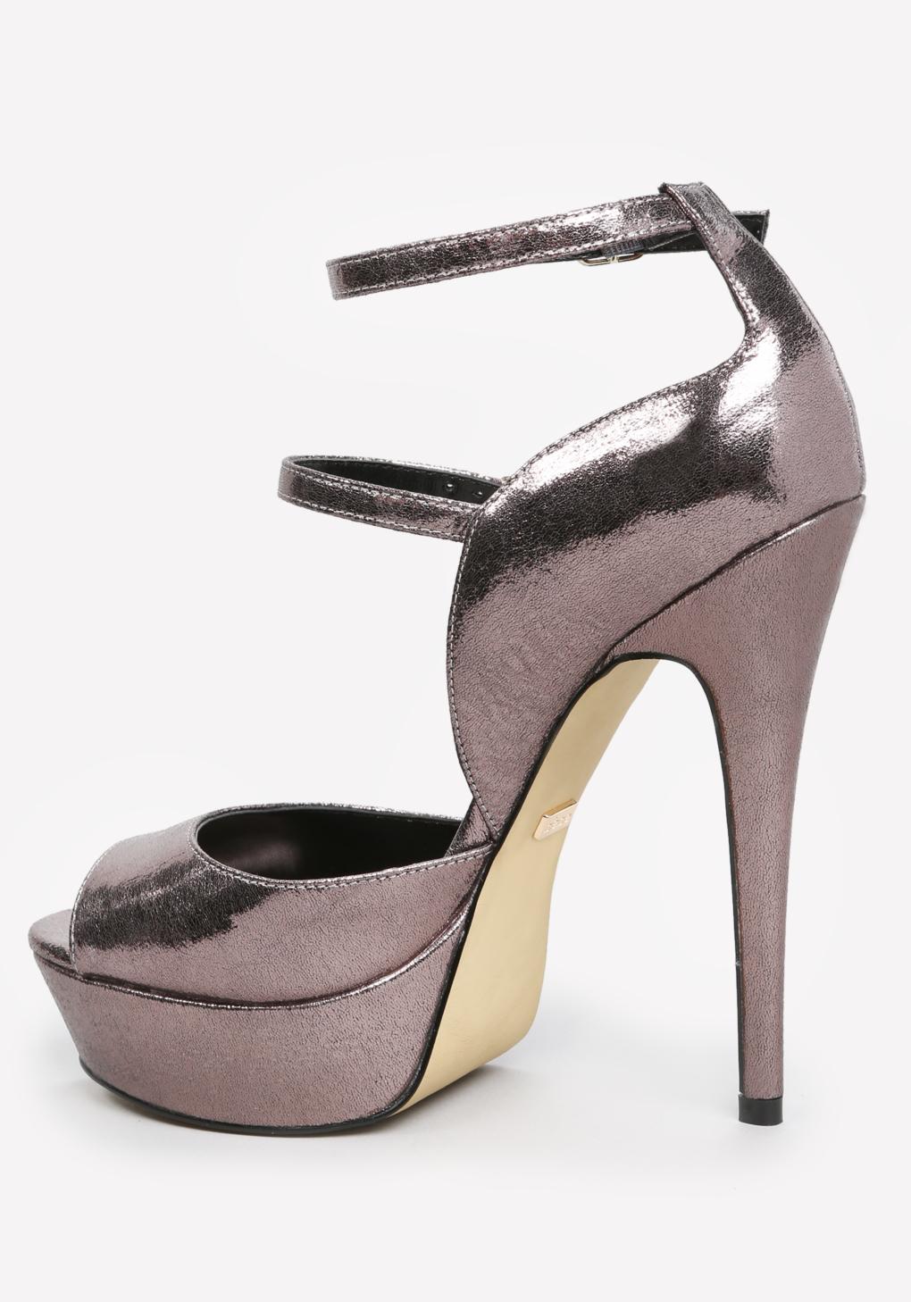 Lyst Bebe Allice Platform Sandals In Metallic