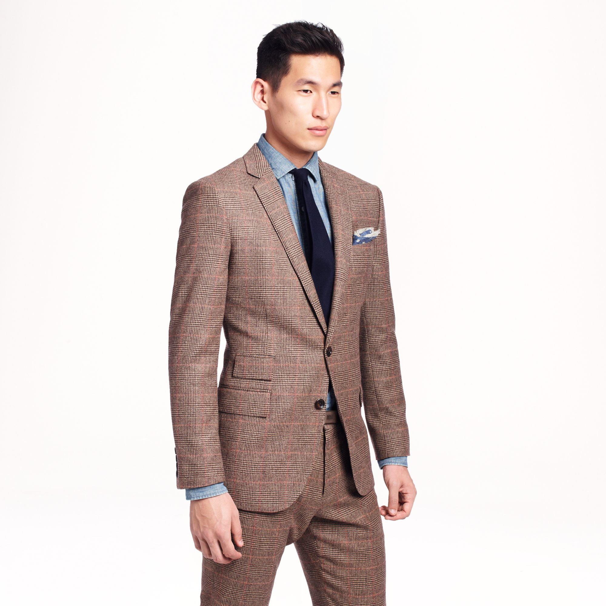J.crew Ludlow Suit Jacket with Double Vent in Glen Plaid English ...