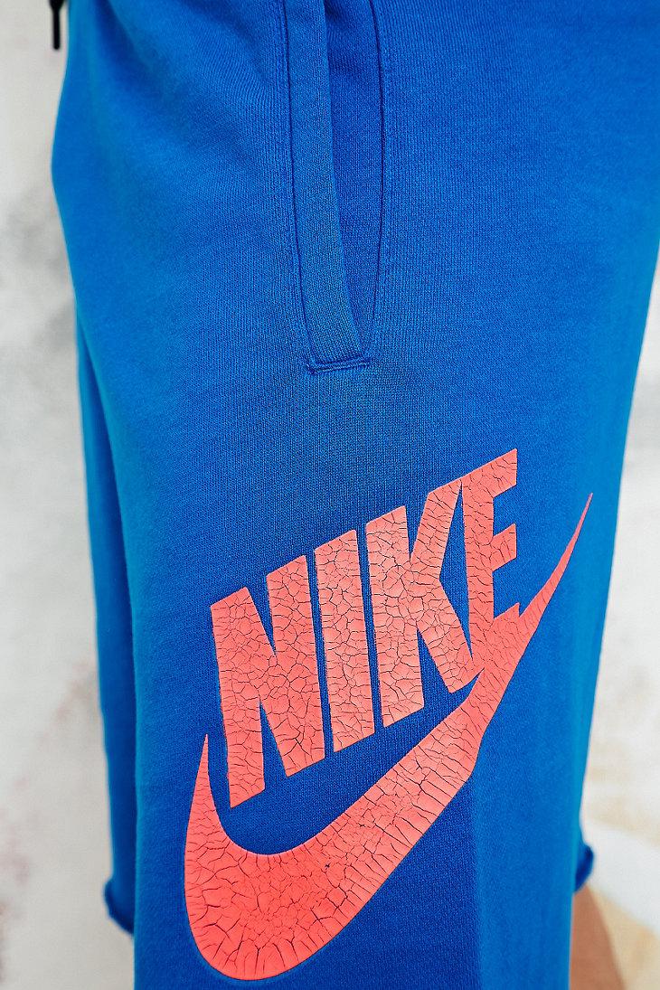 Nike Swoosh Raw Hem Sweat Shorts in Blue in Blue for Men - Lyst 1c60bd0d7288