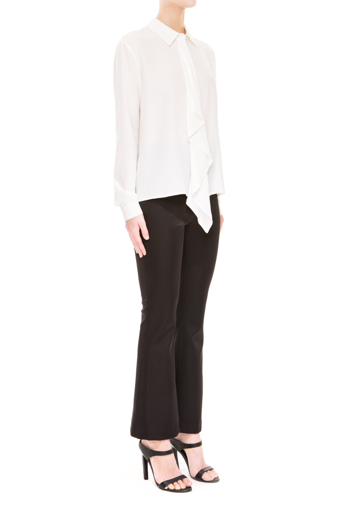 Lyst keepsake stolen heart silk long sleeve shirt in white for Silk long sleeve shirt