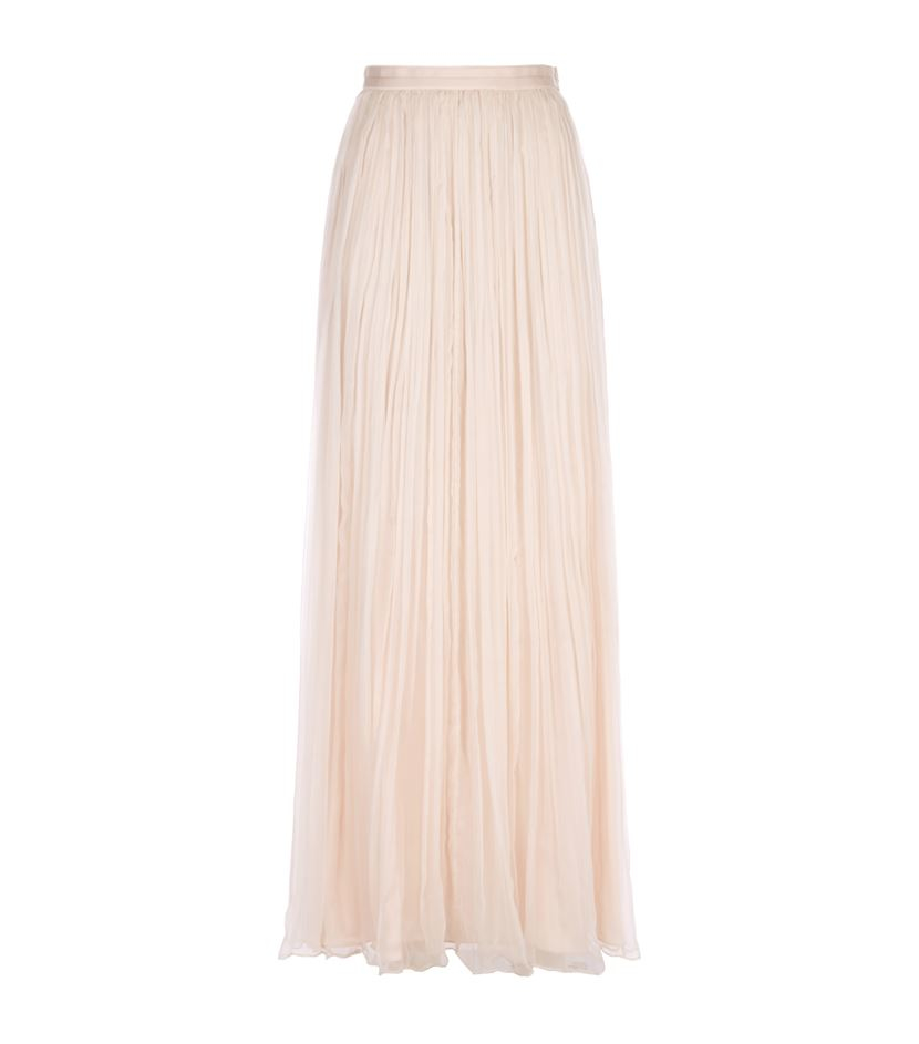 a4bef9fcad Needle & Thread Crinkle Chiffon Maxi Skirt in Pink - Lyst