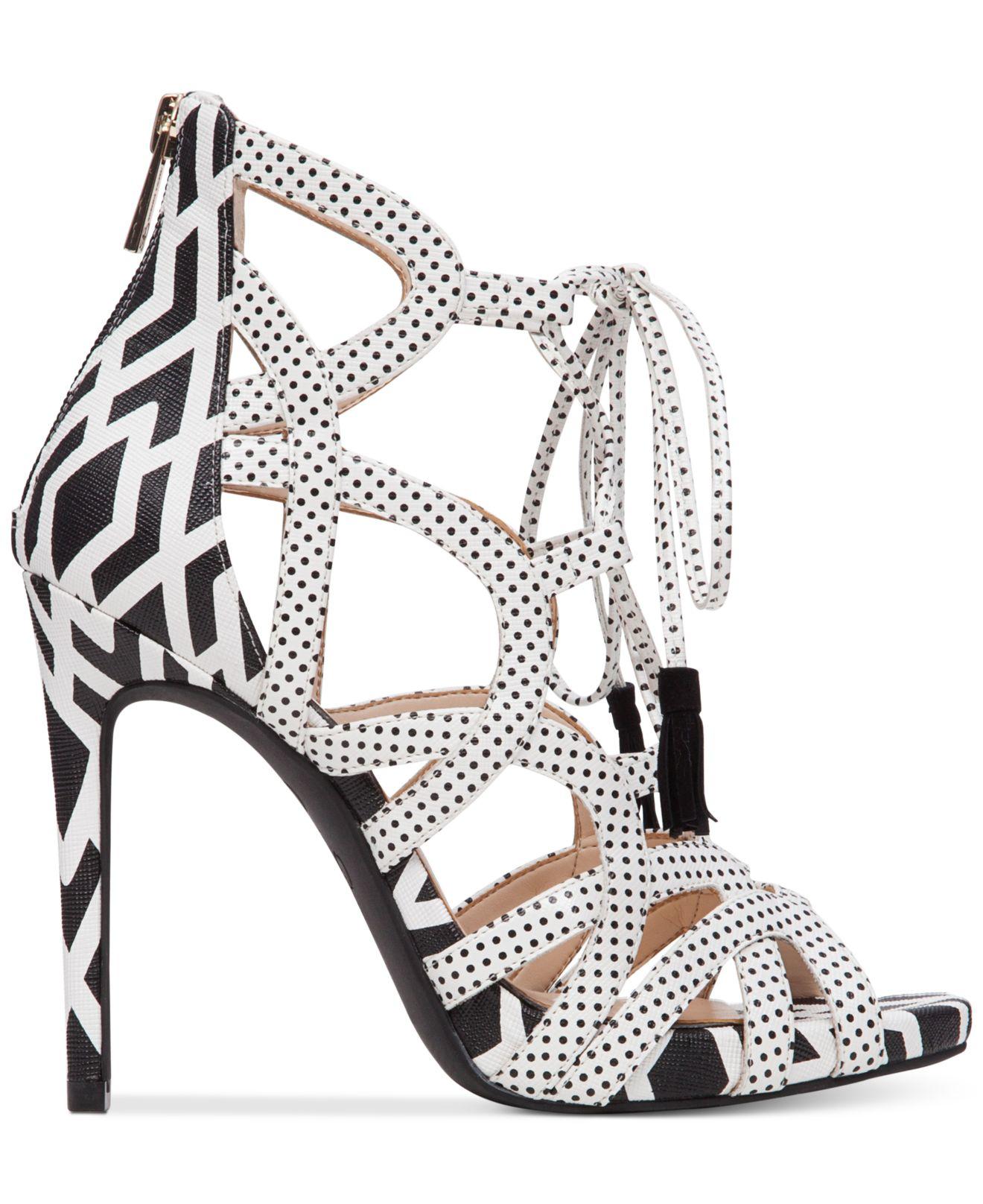 ea2e71e1663 Lyst - Jessica Simpson Racine Lace-up High-heel Gladiator Sandals in ...
