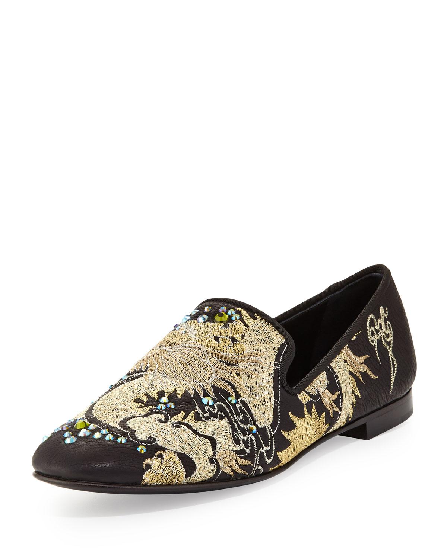 0fa6c9e8614 Lyst - Giuseppe Zanotti Mens Embroidered Dragon Loafer for Men