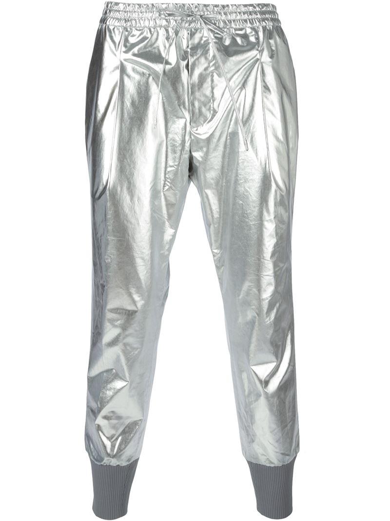Lyst Juun J Metallic Track Pants In Metallic For Men