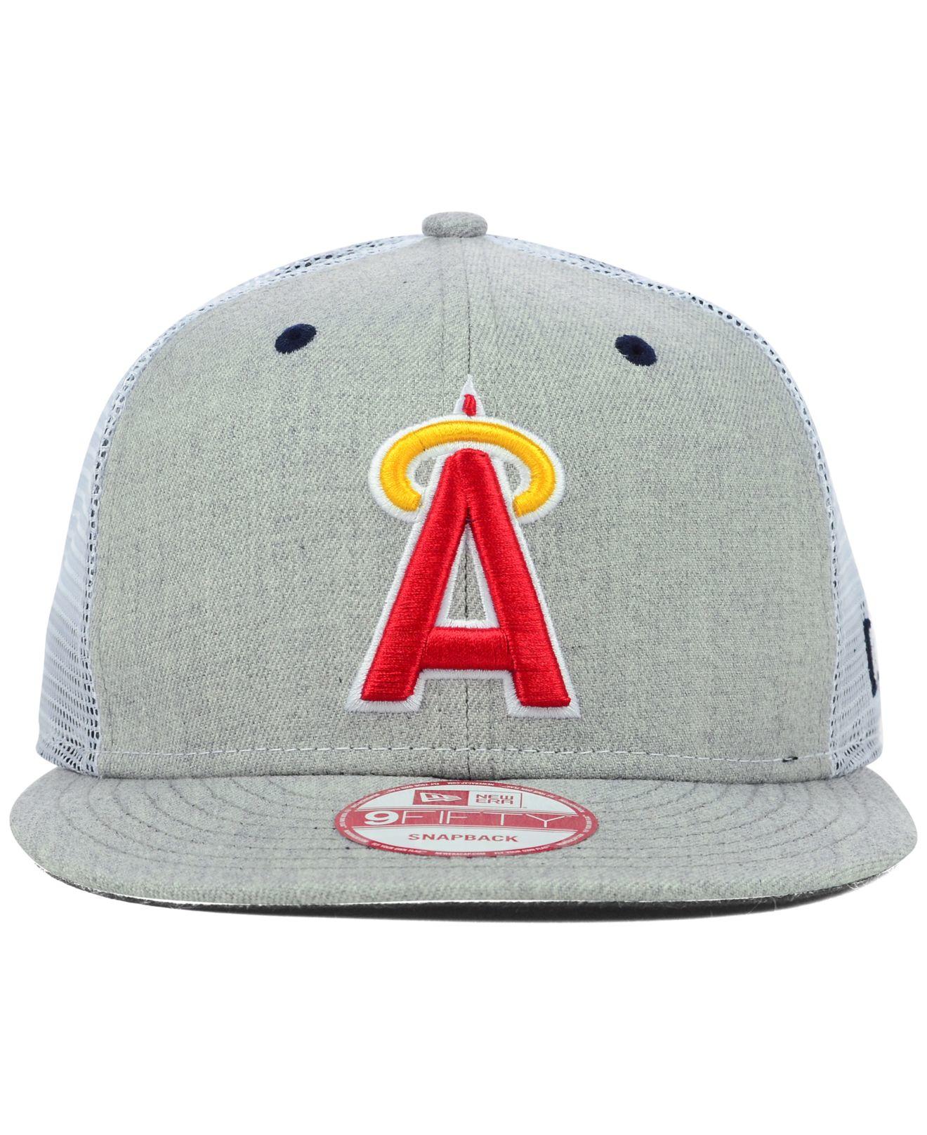 326eae0b2a8 Lyst - KTZ Los Angeles Angels Of Anaheim Heather Trucker 9fifty ...