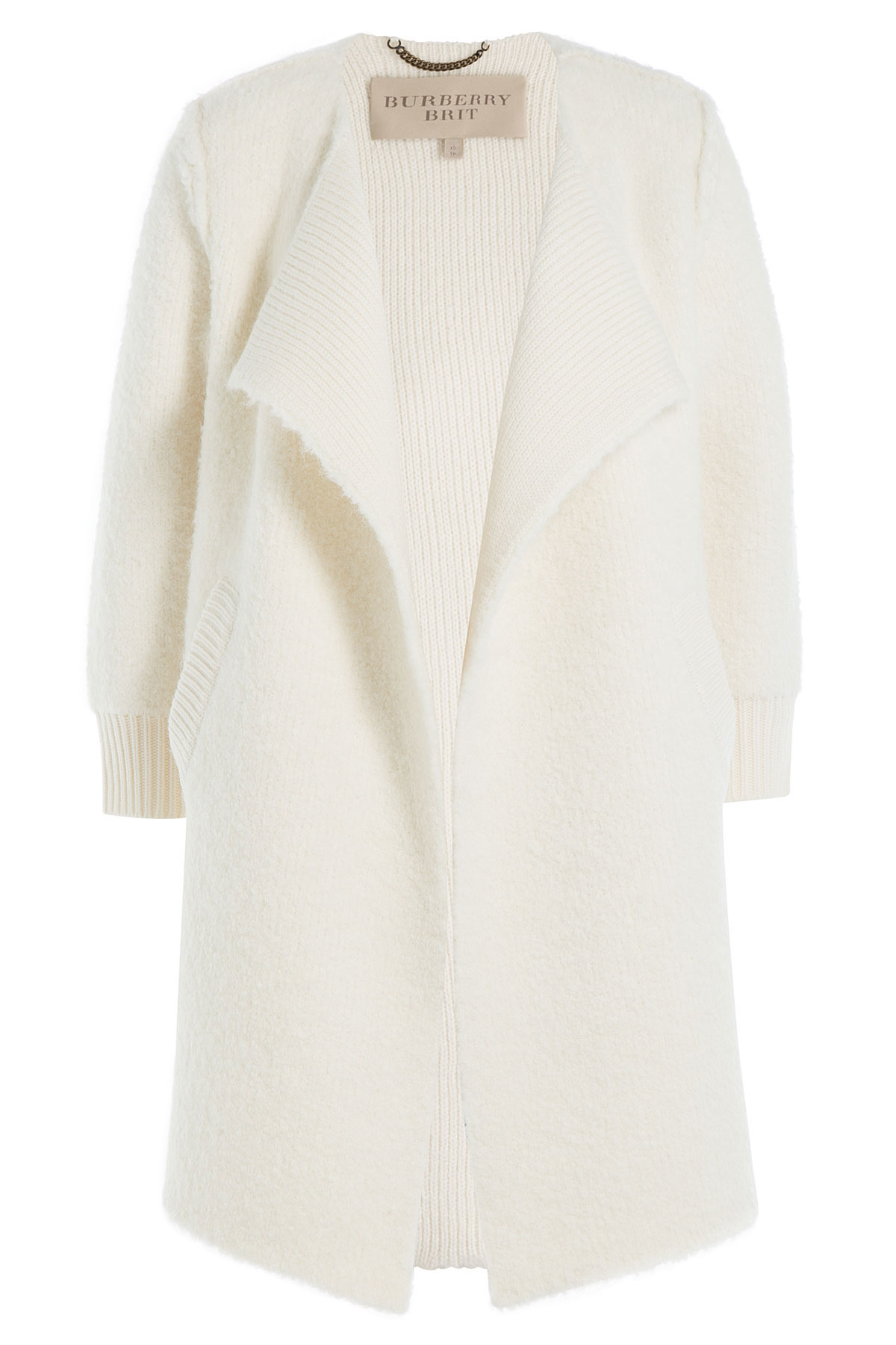 Burberry brit Cape Cardigan With Wool, Alpaca And Cashmere - White ...