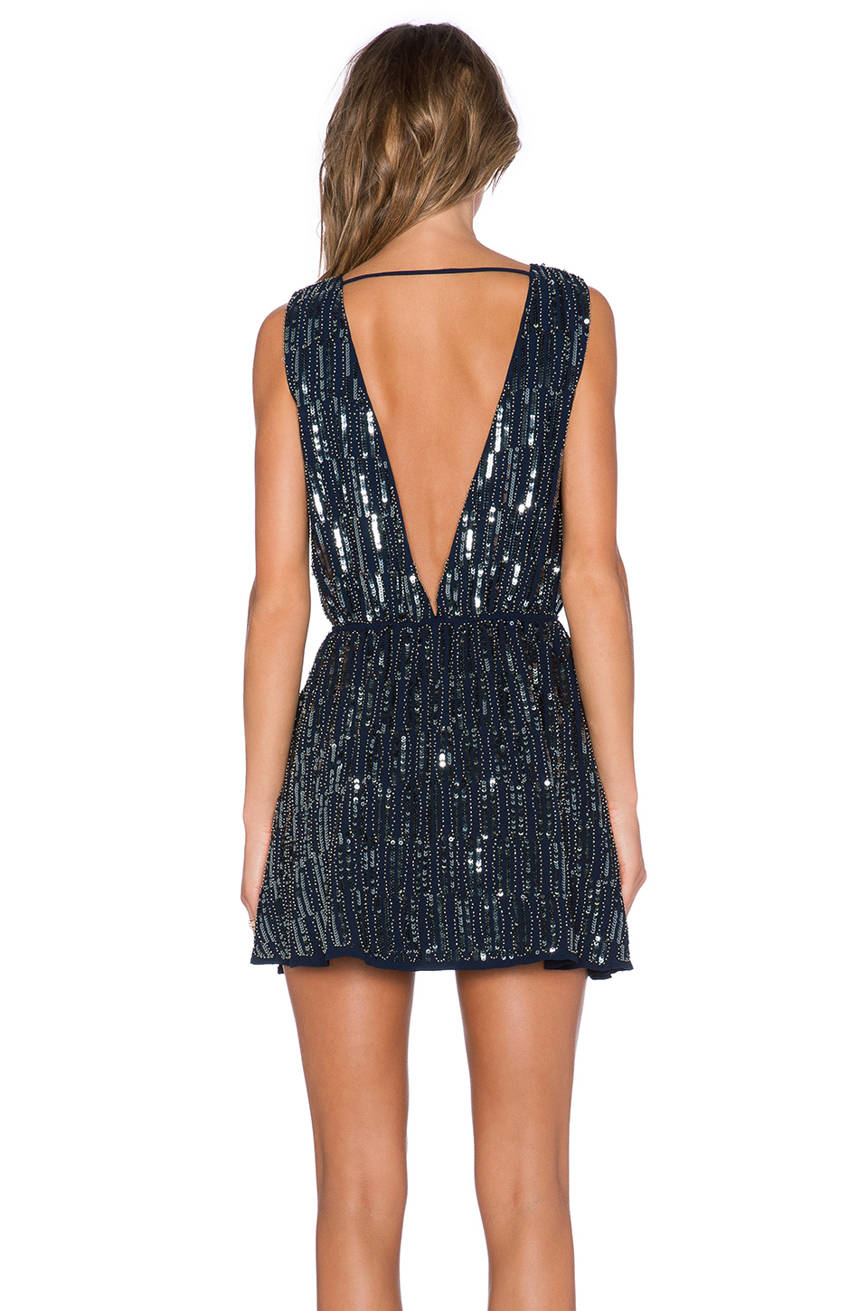 Lyst Endless Rose Sequin Mini Dress In Blue