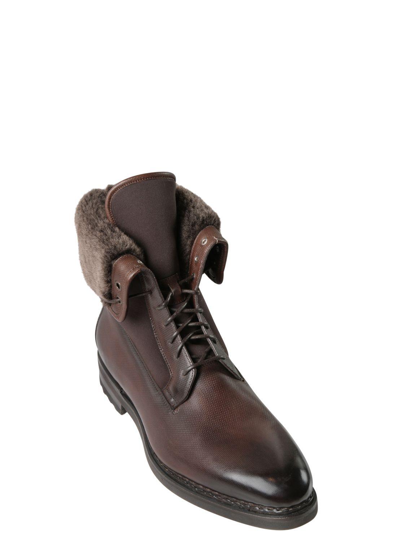 santoni Boots leather