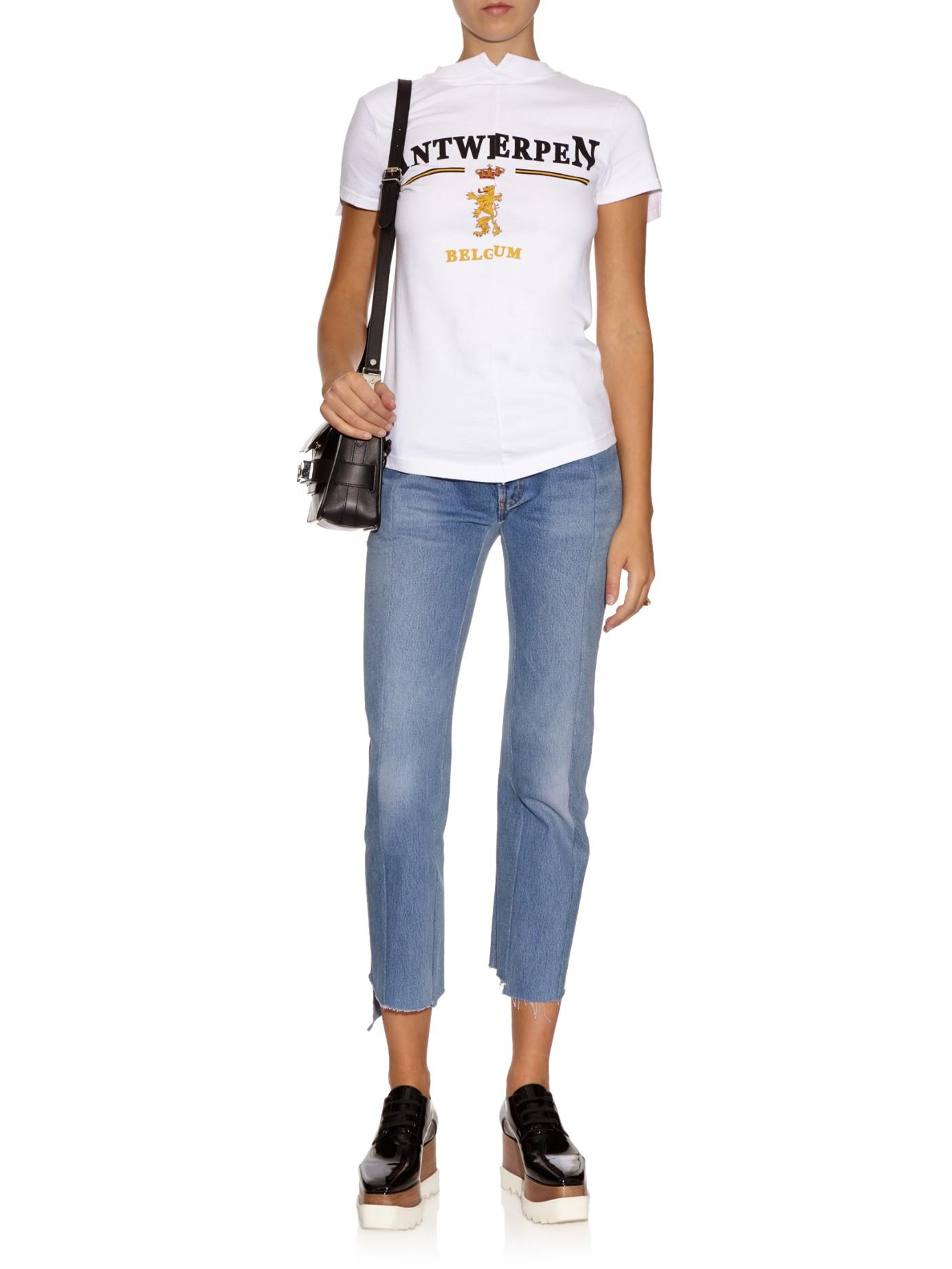 White V Neck T Shirt For Women