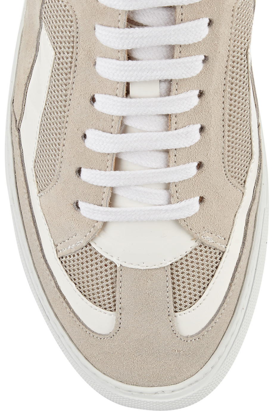 Lyst mm6 by maison martin margiela suede mesh and for Mm6 maison martin margiela