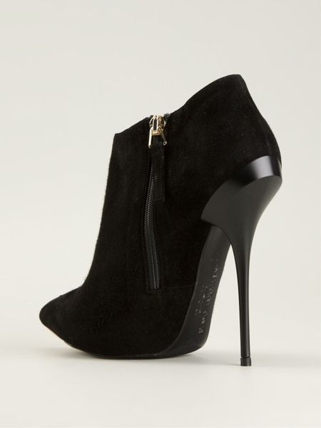 Gianmarco Lorenzi Pointed Toe Ankle Boots In Black Lyst