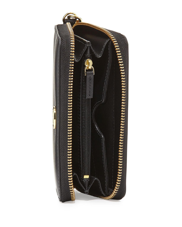 764b324f5746 Lyst - Tory Burch Robinson Smartphone Wristlet Wallet in Black