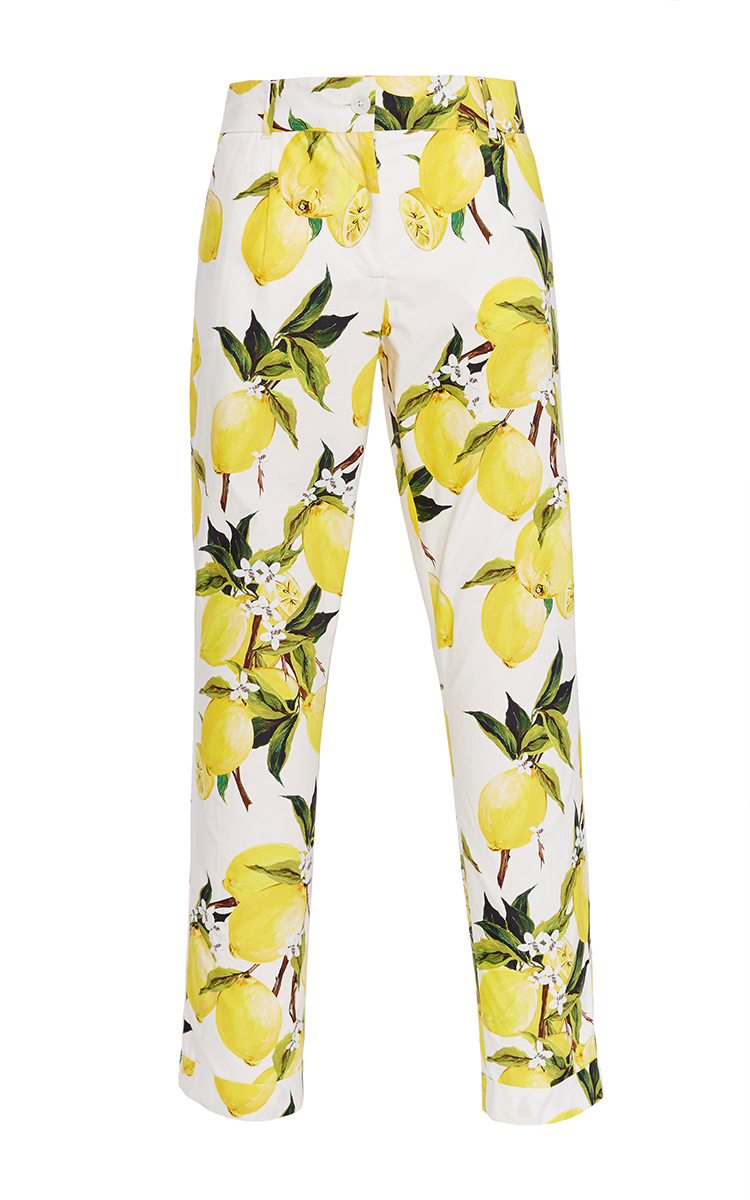 Printed silk-blend trousers Dolce & Gabbana
