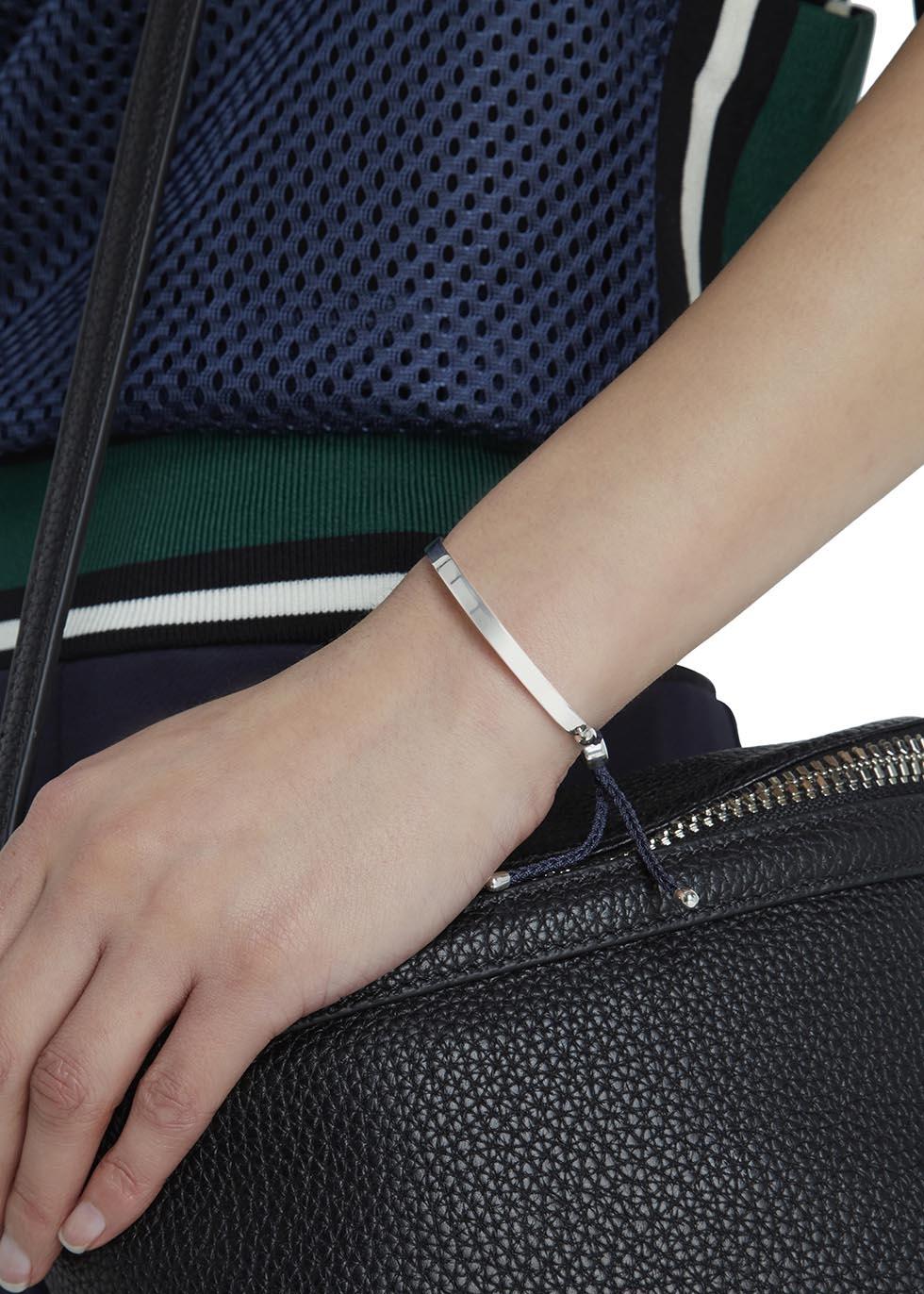 Sterling Silver Linear Friendship Bracelet Monica Vinader Gec7THg