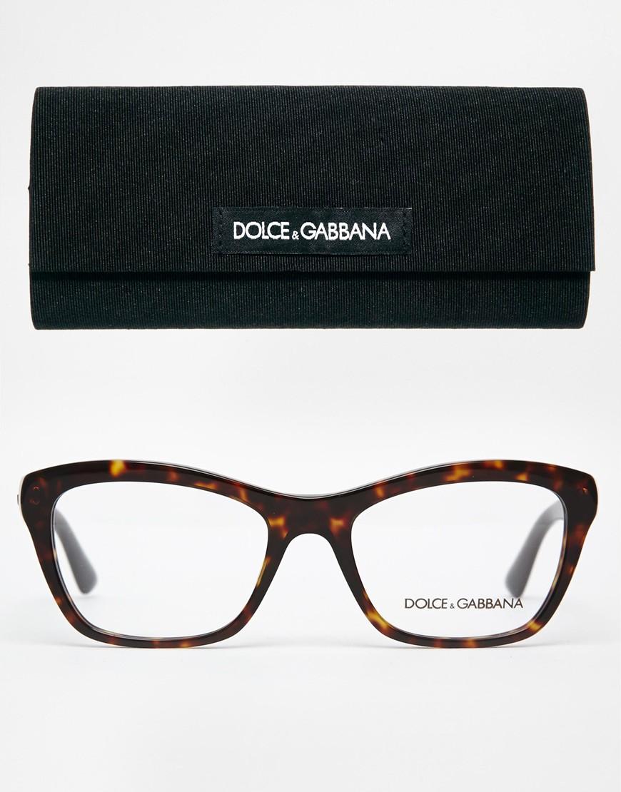 6545d647fc07 Lyst - Dolce   Gabbana Tortoiseshell Clubmaster Glasses in Brown