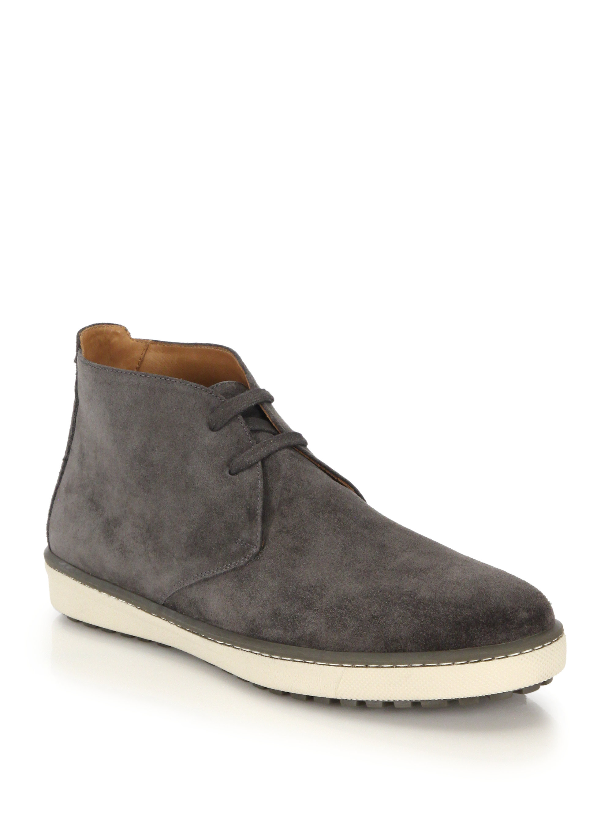 Vince Blake Suede Chukka Boots In Gray For Men Lyst