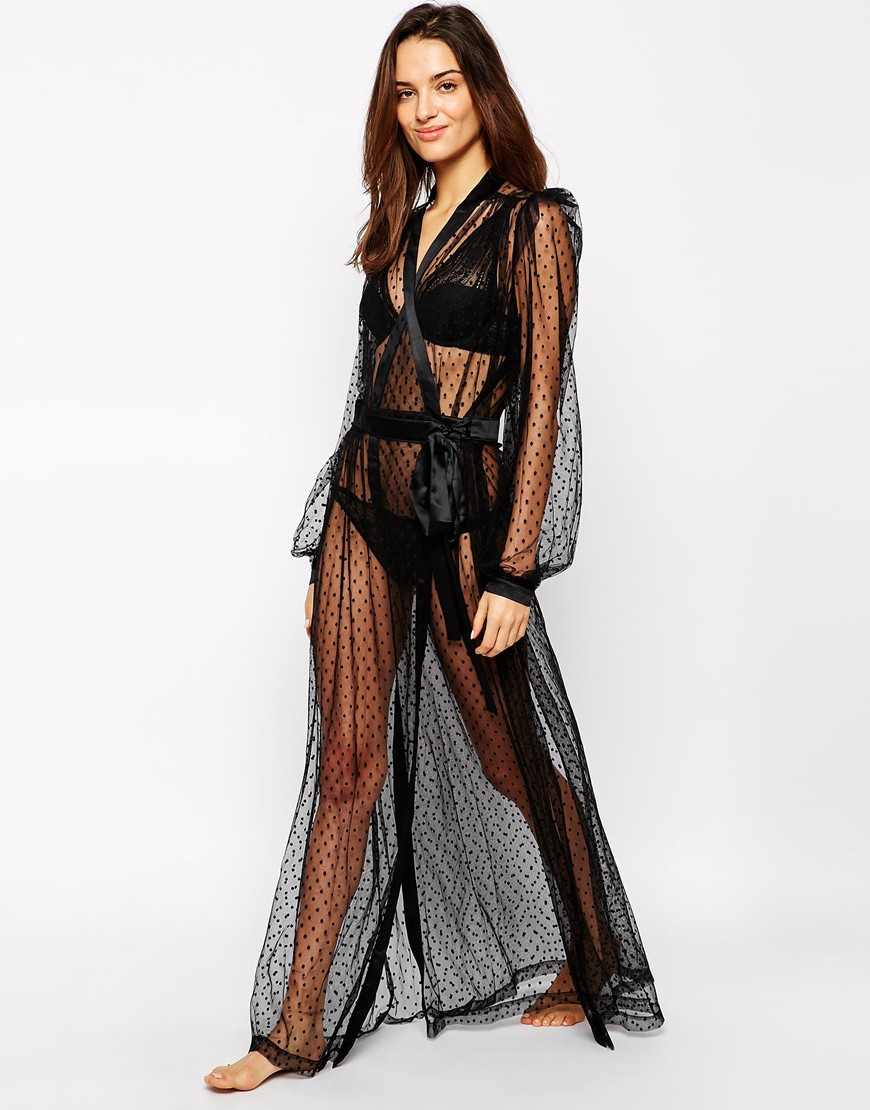 Lyst - Dita Von Teese Lamarr Robe in Black b95b966f8