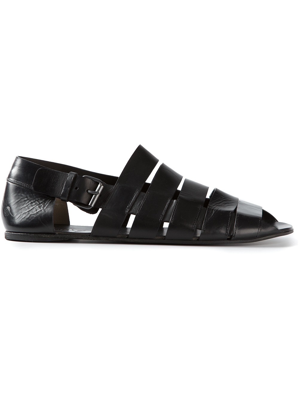 Mars 232 Ll Ankle Strap Sandals In Black For Men Lyst