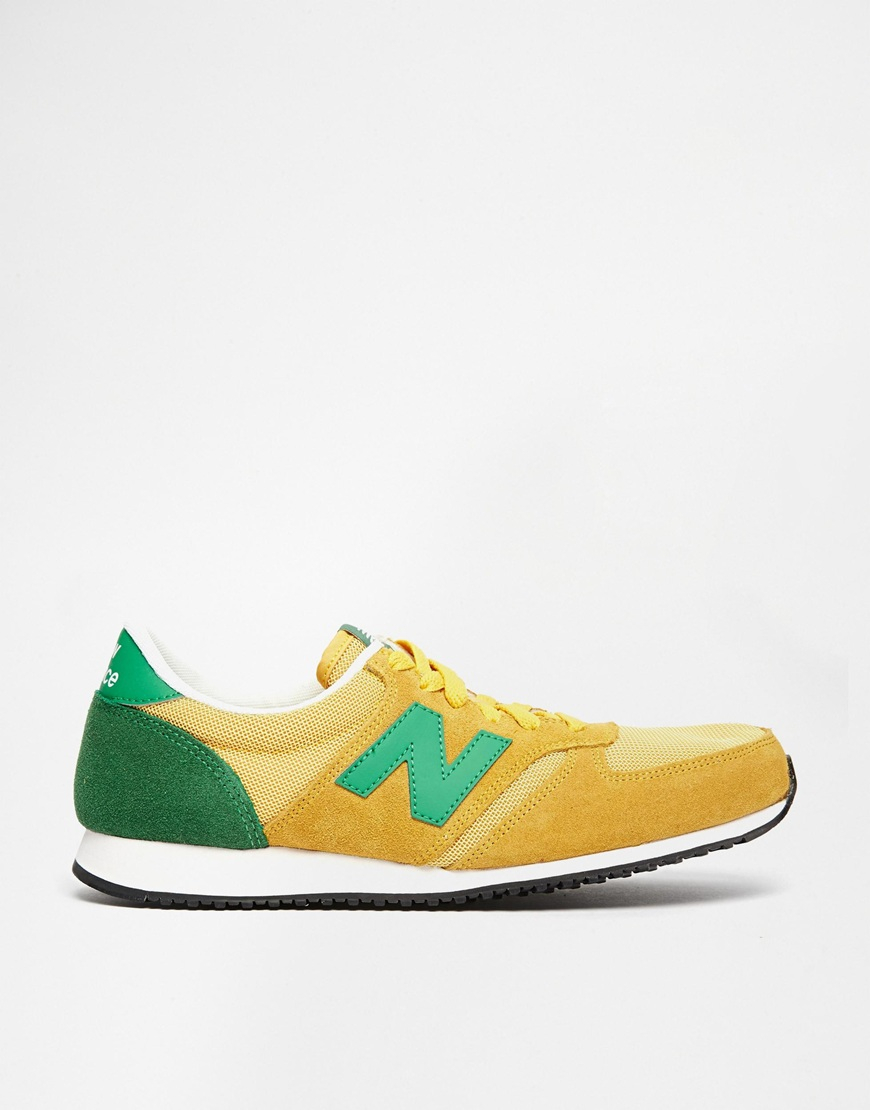 new balance 420 yellow green