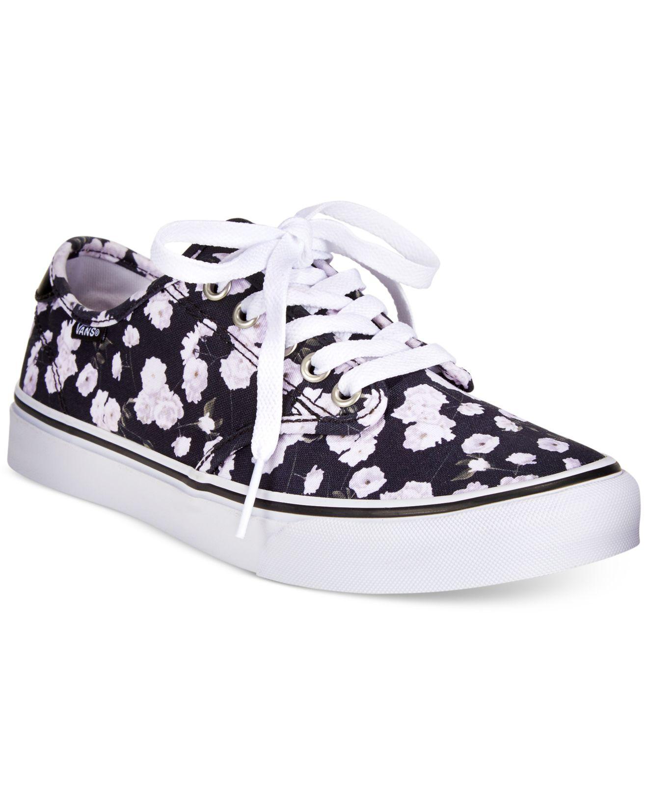 5c18d7ffeeba Lyst - Vans Women s Camden Floral Sneakers