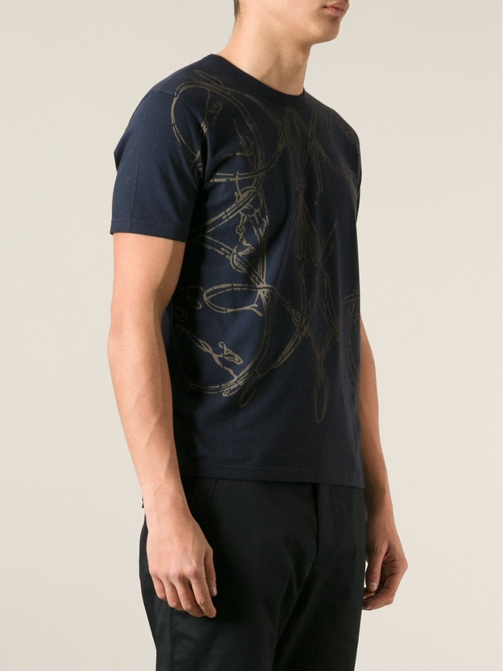 gucci printed tshirt in blue for men lyst. Black Bedroom Furniture Sets. Home Design Ideas
