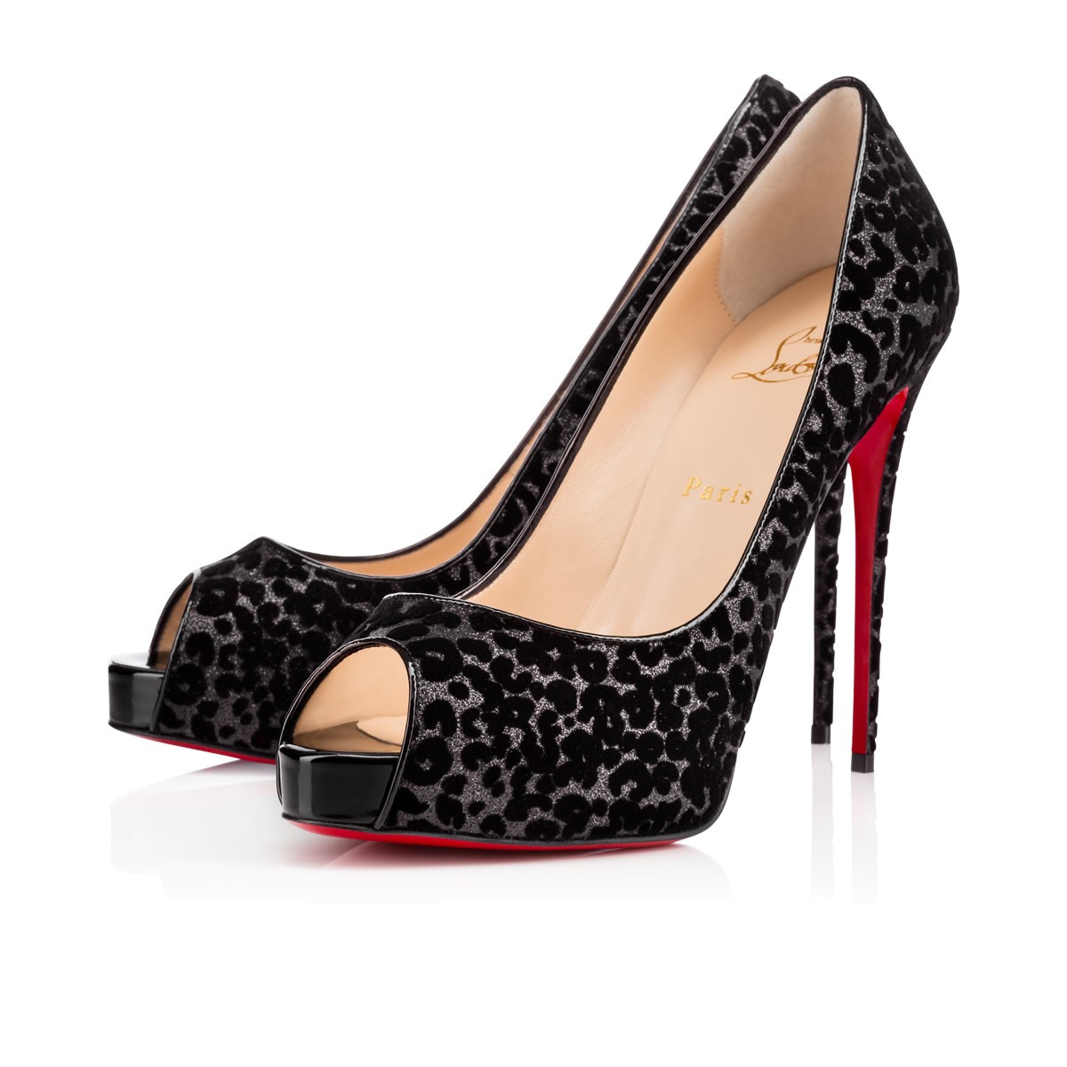 christian louboutin Very Prive peep-toe slingback pumps ...