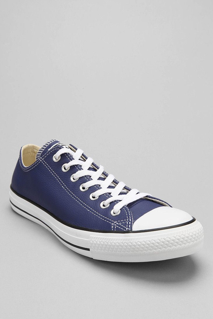 Lyst - Converse Chuck Taylor All Star Leather Low-Top Men S Sneaker in Blue  for Men a999368f7cc1