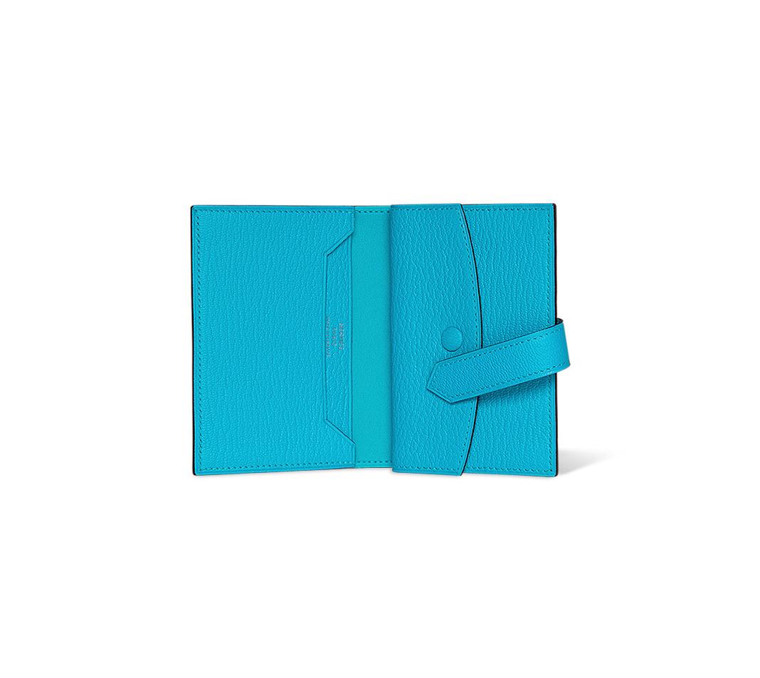 hermes Dogon Duo poppy orange/candy pink wallet