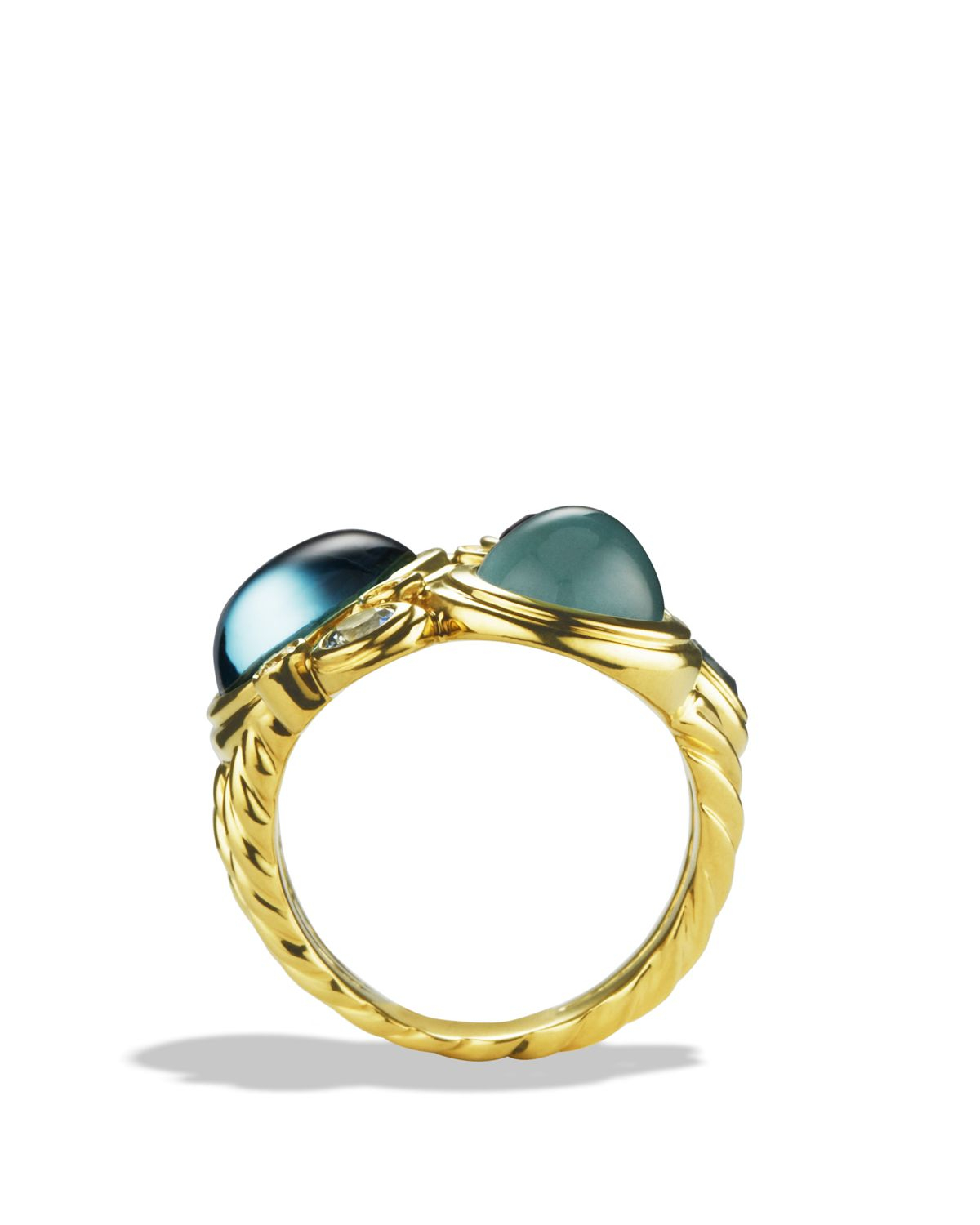 david yurman mosaic ring with blue topaz milky aquamarine